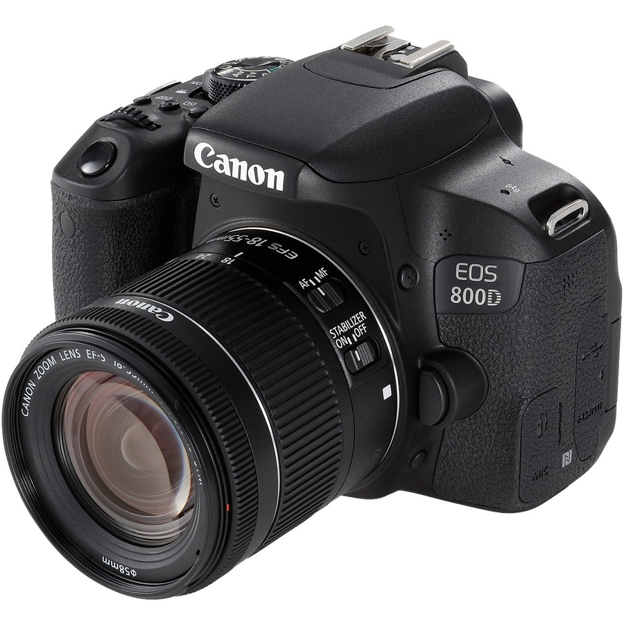 Canon EOS 800D 24.2 Megapixel Digital SLR Camera with Lens - 18 mm - 55 mm - Black