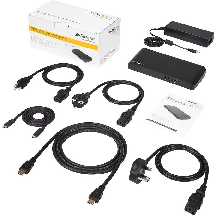 StarTech com Dual Monitor USB-C Dock - Windows - USB-C