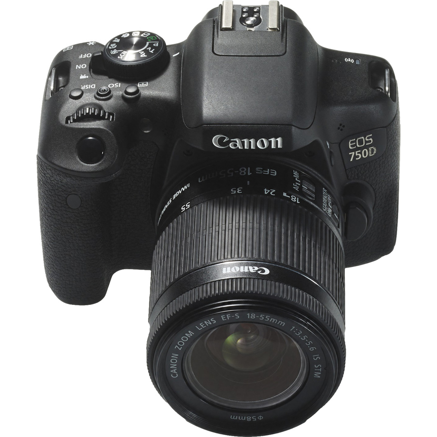 Canon EOS 750D 24.2 Megapixel Digital SLR Camera with Lens - 18 mm - 55 mm - Black