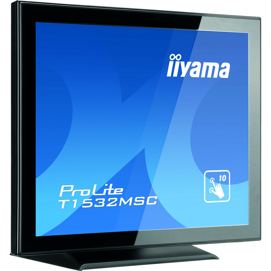 iiyama ProLite T1532MSC-B5X 38.1 cm 15inch LCD Touchscreen Monitor - 4:3 - 8 ms BTW Black to White - Projected Capacitive - Multi-touch Screen - 1024 x 768 - XGA -