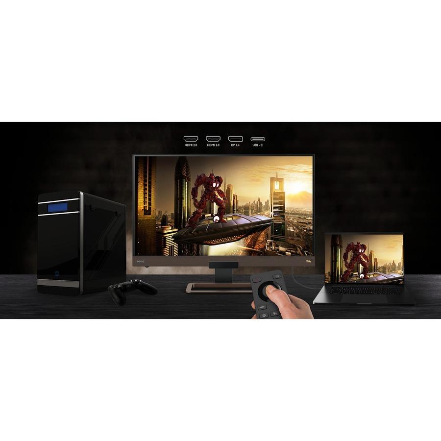 BenQ EX2780Q 27And#34; WQHD LED Gaming LCD Monitor - 16:9 - Metallic Grey