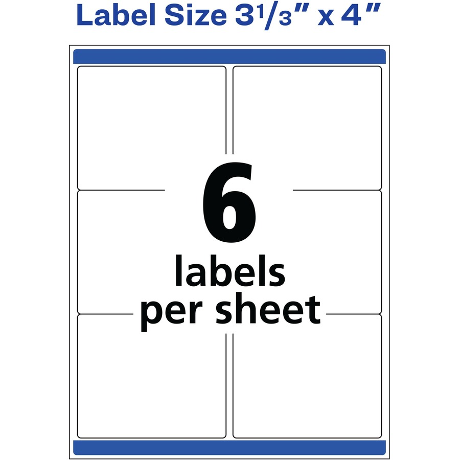 avery 5524 avery weather proof mailing label ave5524 ave 5524