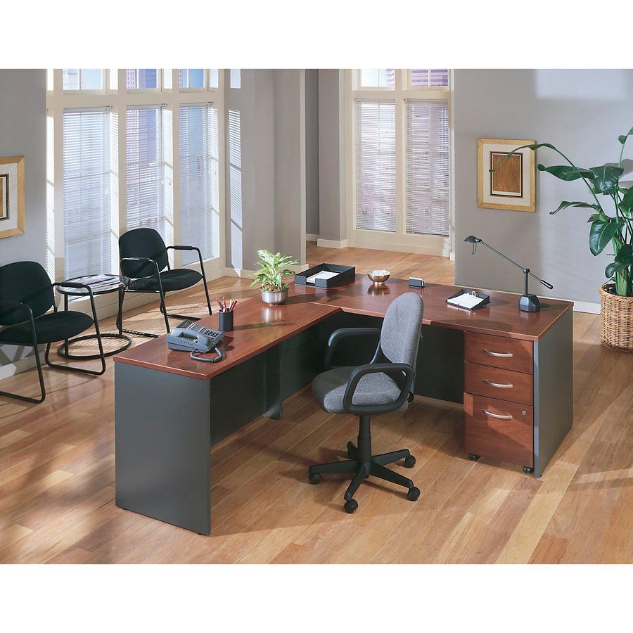 Warm Cherry Executive Desk Home Office Collection: Bush WC24446, Bush Series C Bowfront Desk, BSHWC24446, BSH