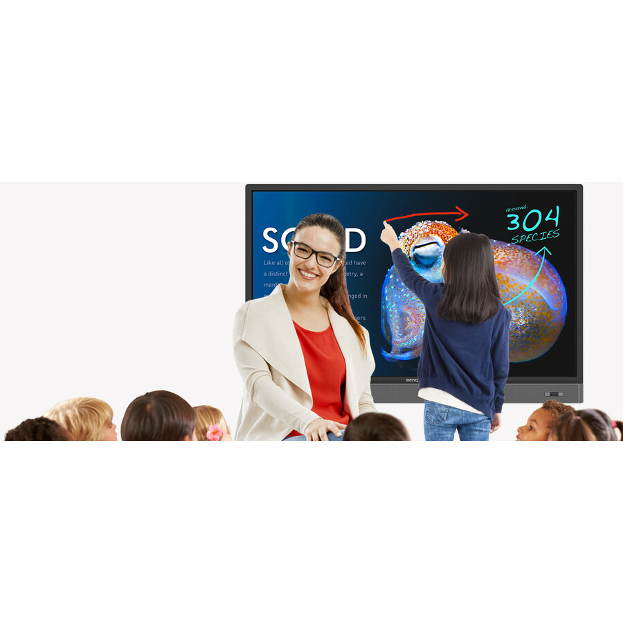 BenQ Interactive RP553K 139.7 cm 55inch LCD Touchscreen Monitor - 16:9 - 6 ms - Infrared - Multi-touch Screen - 3840 x 2160 - 4K UHD - 1,200:1 - 350 cd/mAnd#178; - Dire