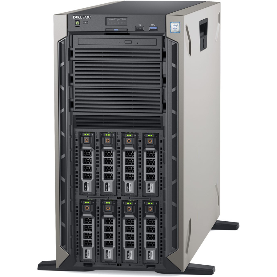 Dell EMC PowerEdge T440 5U Tower Server - 1 x Intel Xeon Silver 4110  Octa-core (8 Core) 2 10 GHz - 16 GB Installed DDR4 SDRAM - 1 TB (1 x 1 TB)  Serial