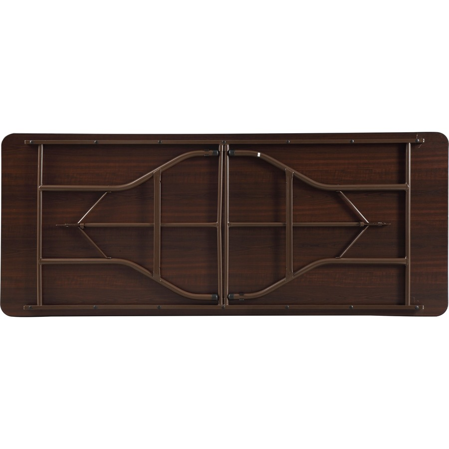 Lorell Economy Folding Table Rectangle Top 72 Length X 30 Width 0 63 Thickness 29 Height Mahogany