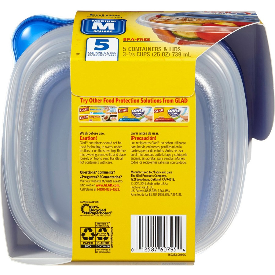 Glad Food Storage Containers 25 fl oz Food Container Lid