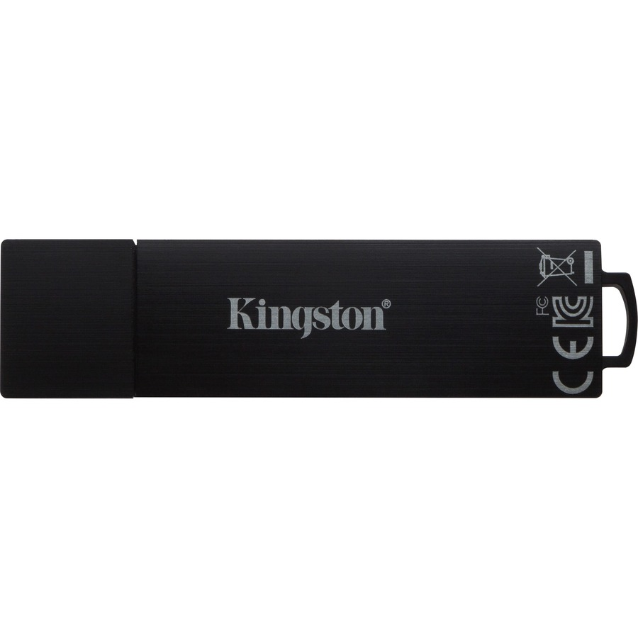 IronKey D300 64 GB USB 3.0 Flash Drive - Black - 1/Pack - 256-bit AES