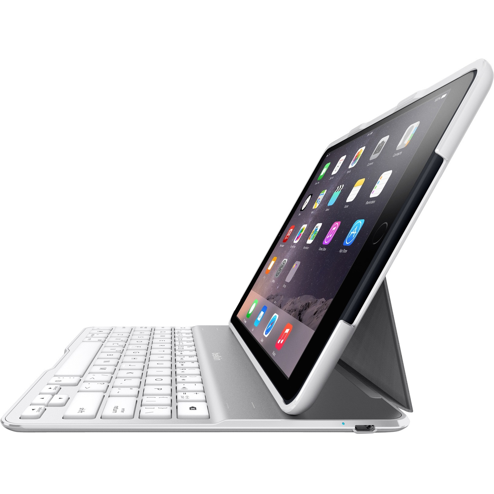 Belkin QODE Ultimate Keyboard/Cover Case Folio for iPad, iPad Air - White
