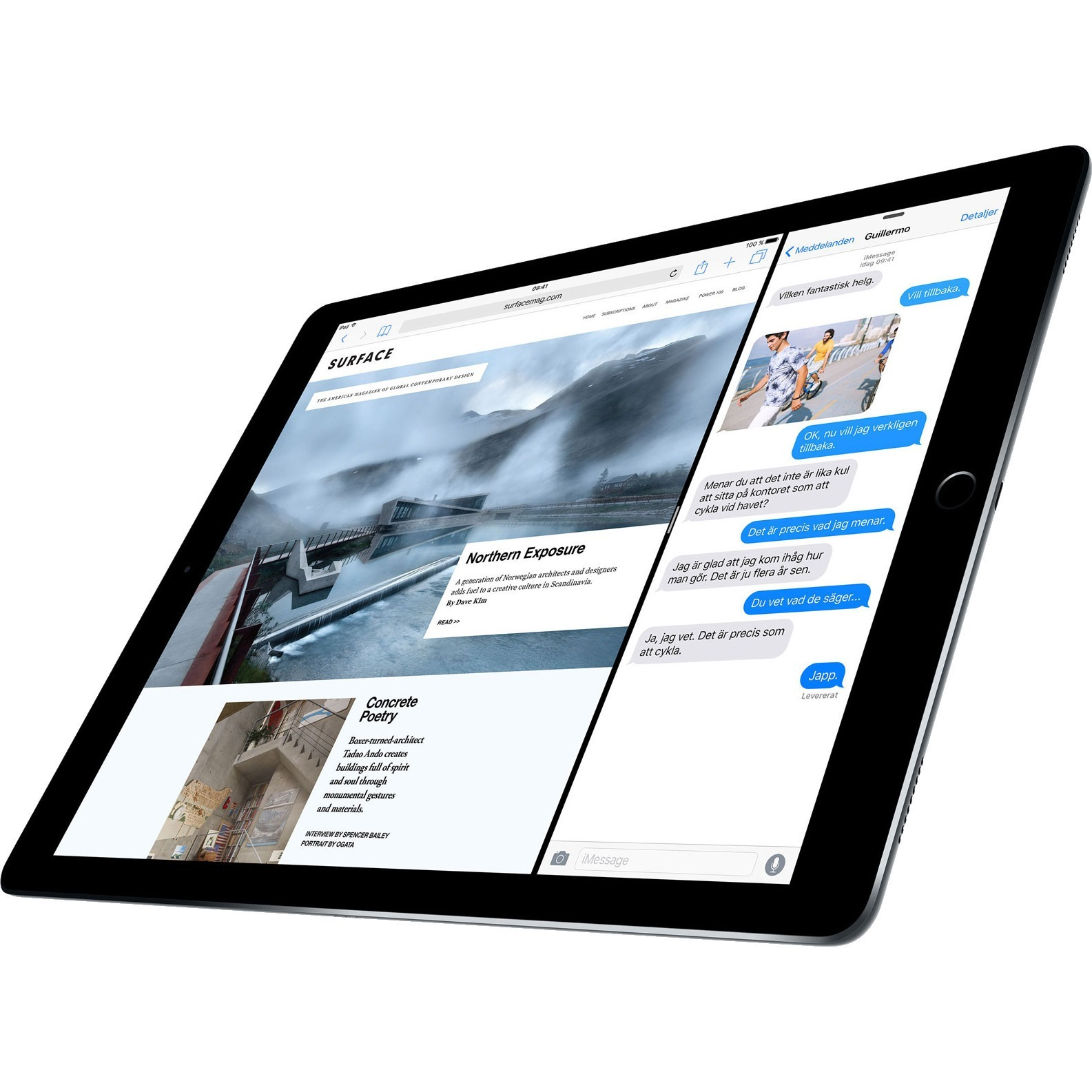 Apple iPad Pro Tablet - 32.8 cm 12.9inch - Apple A9X - 128 GB - iOS 9 - 2732 x 2048 - Retina Display - 4G - CDMA2000, GSM Supported - Space Gray - Wireless LAN - Blue
