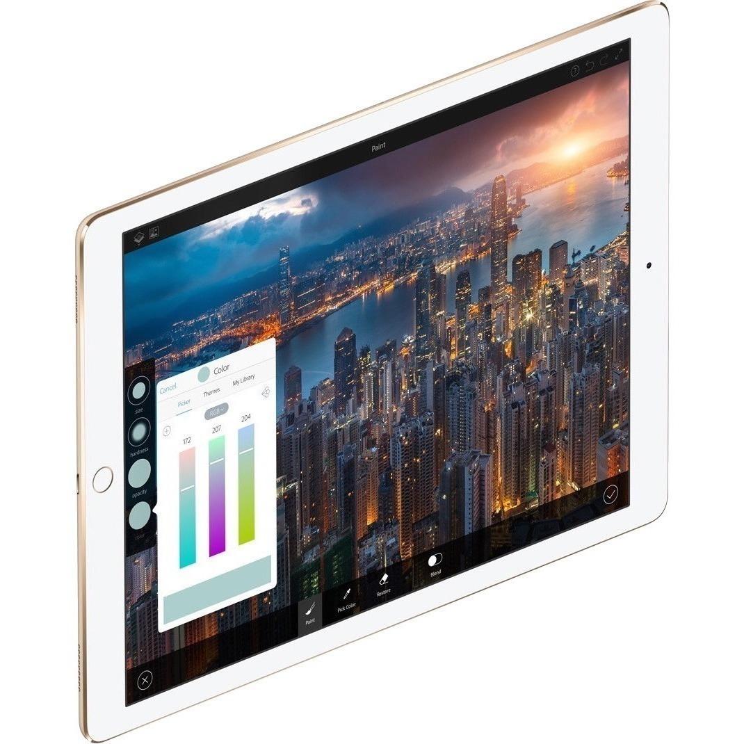 Apple iPad Pro Tablet - 32.8 cm 12.9inch - Apple A10X Hexa-core 6 Core - 64 GB - iOS 10 - 2732 x 2048 - Retina Display - Gold - Wireless LAN - Bluetooth - Lightning