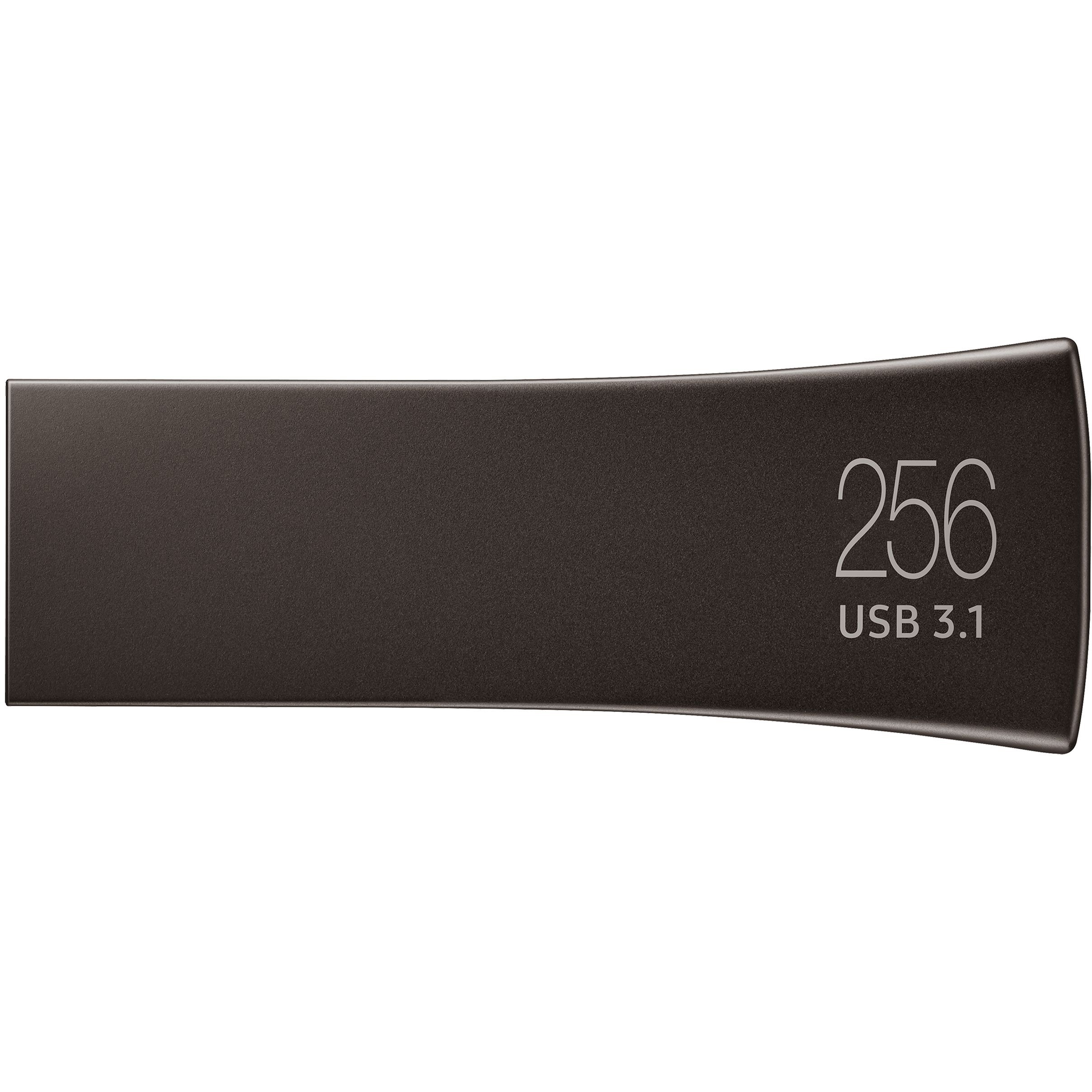 Samsung BAR Plus 256 GB USB 3.1 Type A Flash Drive - Titanium Grey