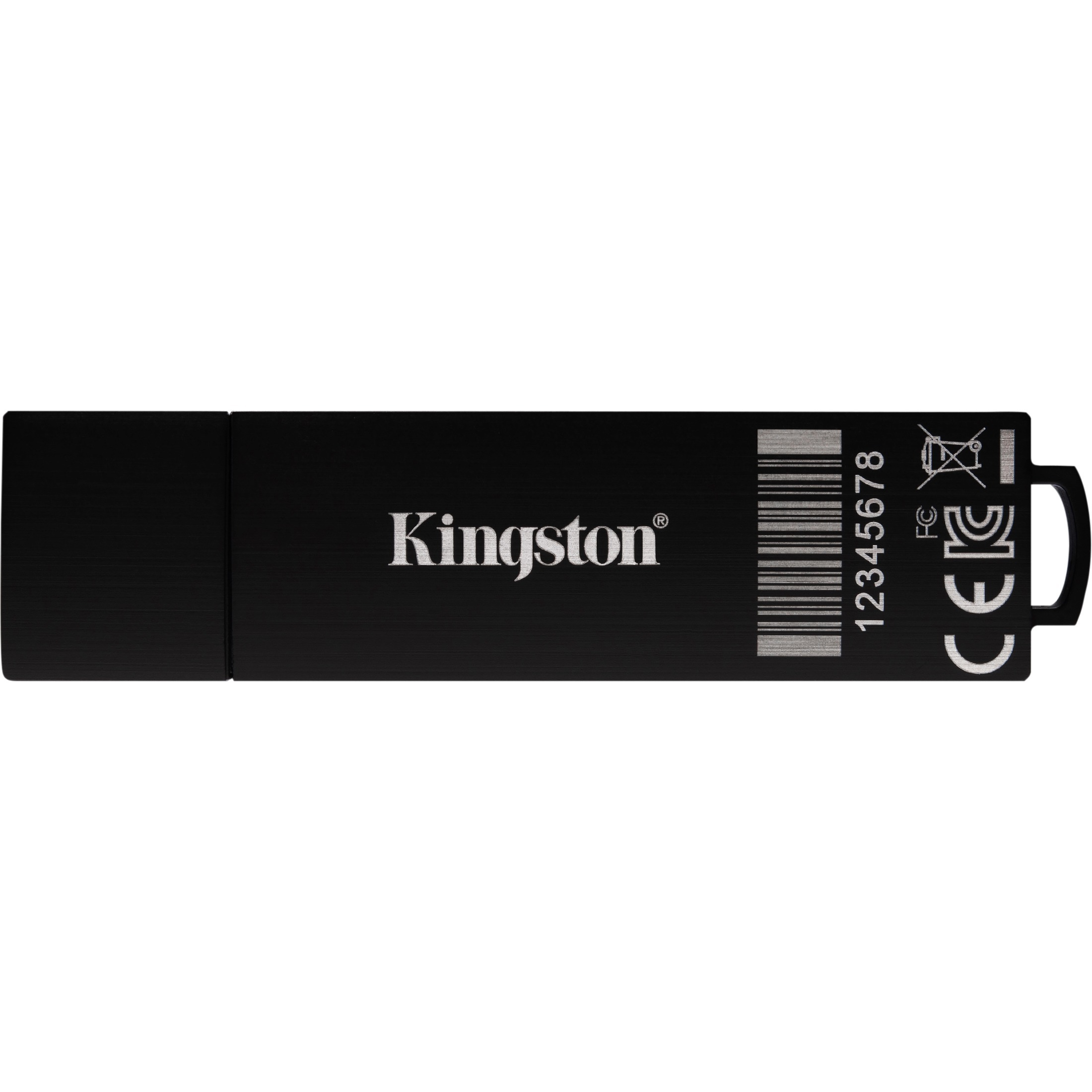 Kingston IronKey D300 D300S 8 GB USB 3.1 Flash Drive - Anthracite - TAA Compliant