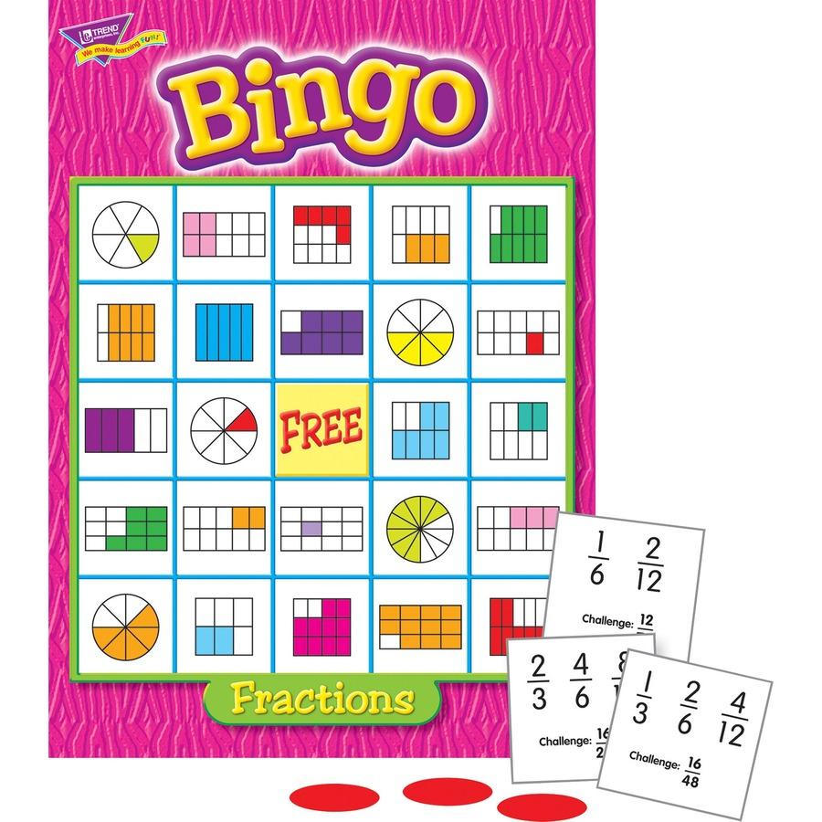 Trend Fractions Bingo Game TEP6136