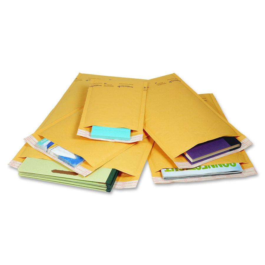 Jiffy Mailer Laminated Air Cellular Cushion Mailers Padded 0 6 Width X 10 Length Self Sealing Kraft 10 Pack Golden Brown