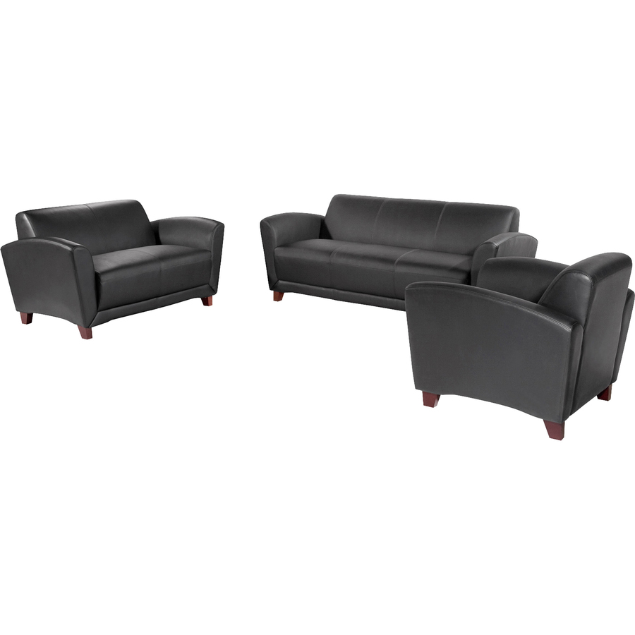 Super Lorell Reception Seating Collection Leather Loveseat 55 X Onthecornerstone Fun Painted Chair Ideas Images Onthecornerstoneorg