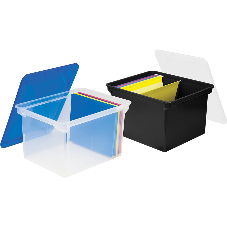 Storex Plastic File Tote Storage Box Internal Dimensions