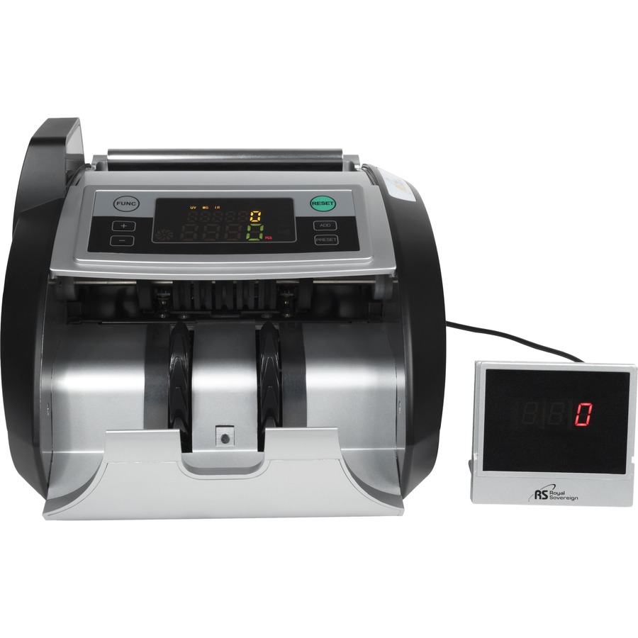 Royal Sovereign Back loading bill counter with counterfeit detection