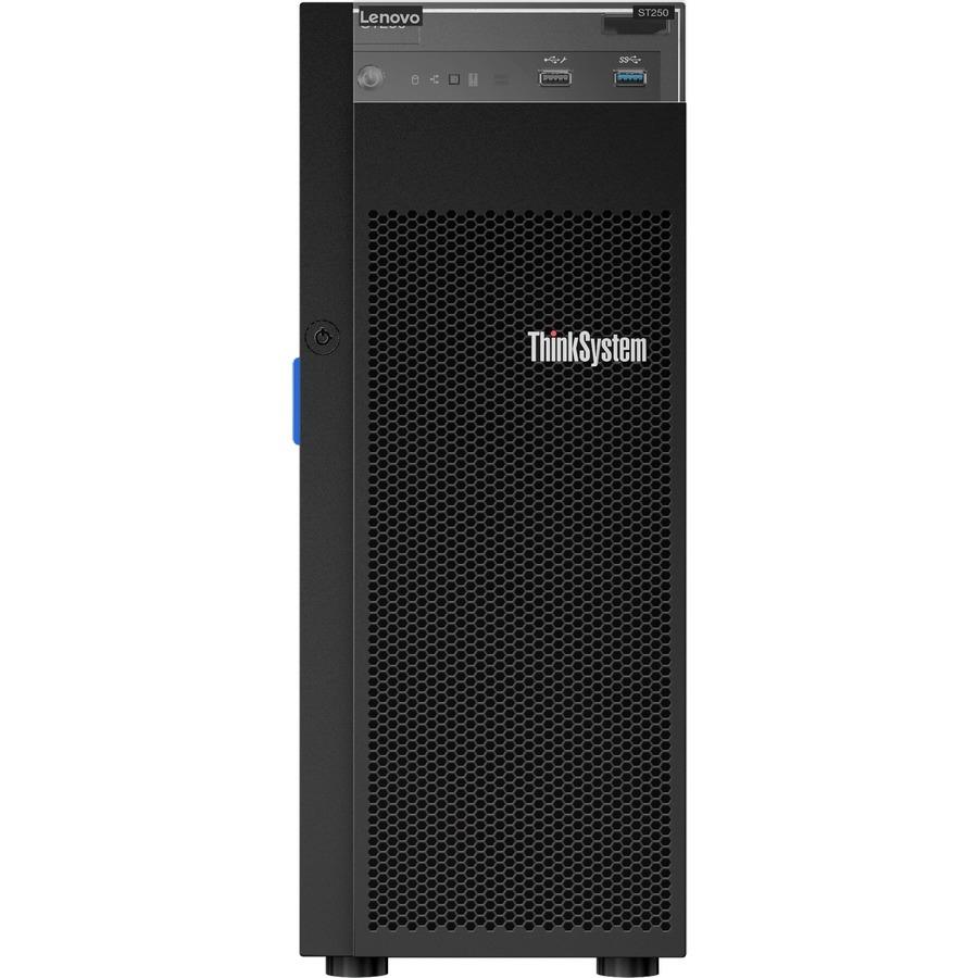 Lenovo ThinkSystem ST250 7Y46A004NA 4U Tower Server - 1 x Xeon E-2174G - 8  GB RAM HDD SSD - Serial ATA/600 Controller