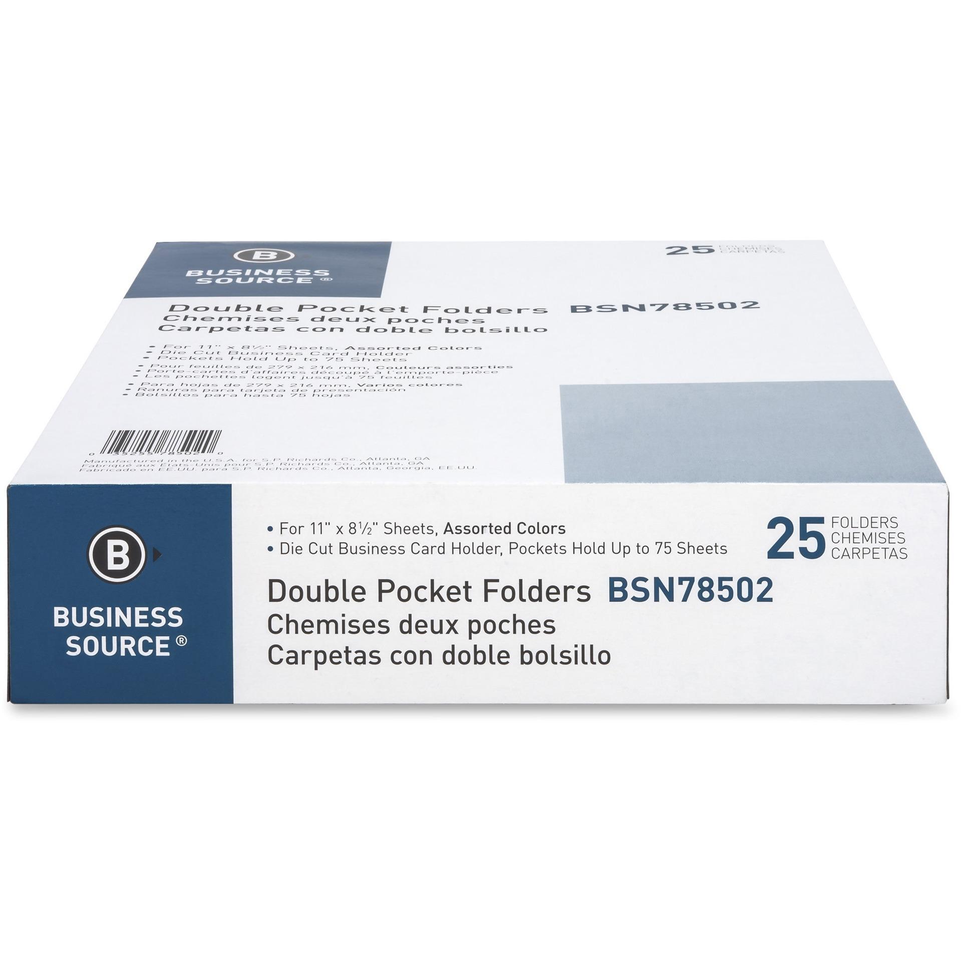BSN78502 Business Source Two-Pocket Folders | Office Advantage