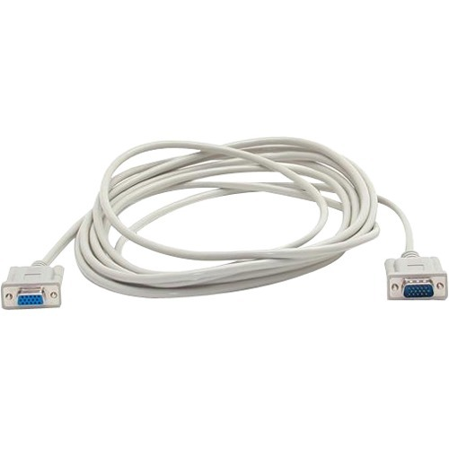 StarTech.com 15 ft VGA Monitor Extension Cable - HD15 M/F - 1 x HD-15 Male - 1 x HD-15 Female - Grey