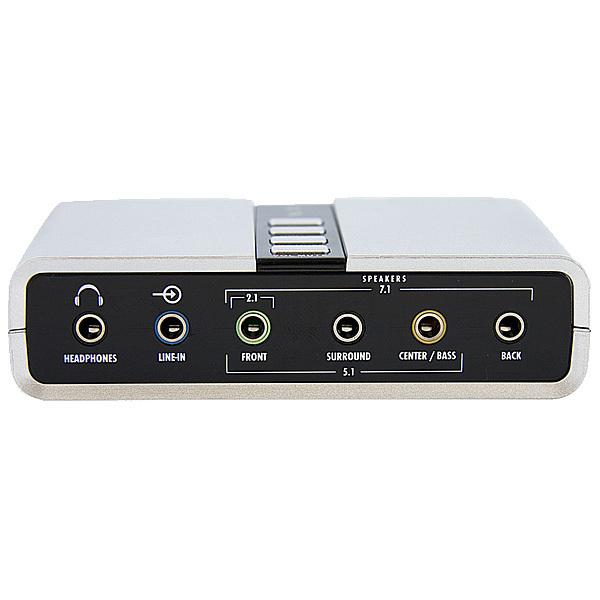StarTech.com 7.1 USB Audio Adapter External Sound Card with SPDIF Digital Audio - External