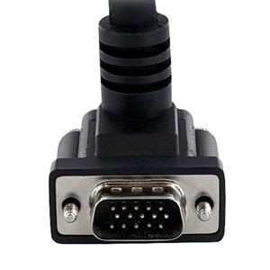 StarTech.com 6 ft Coax High Resolution 90Anddeg; Down Angled VGA Monitor Cable - HD15 M/M