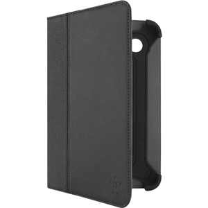 Belkin Cinema Leather Carrying Case Folio for 17.8 cm 7inch Tablet PC - Black - Leather