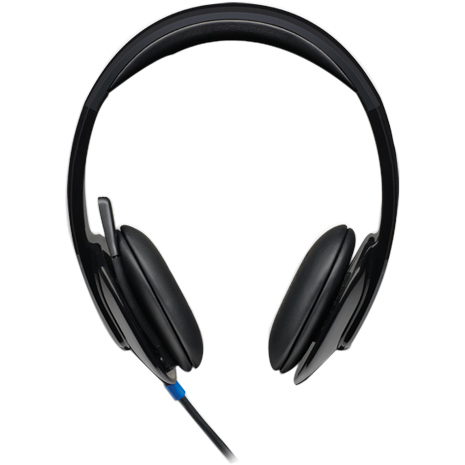 Logitech H540 Wired Stereo Headset - Over-the-head - Semi-open - Black