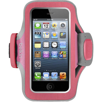 Belkin Slim Fit Carrying Case Armband for iPhone - Pink, Purple - Neoprene - Armband