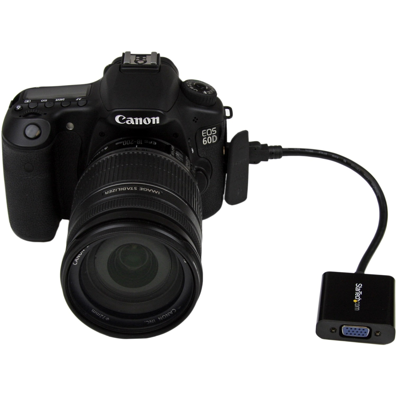 StarTech.com Mini HDMI to VGA Adapter Converter for Digital Still Camera / Video Camera