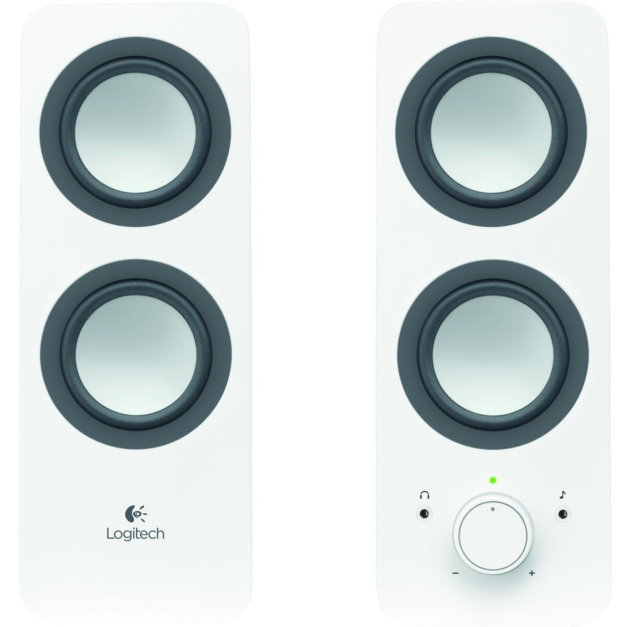 Logitech Z200 - Speakers - white