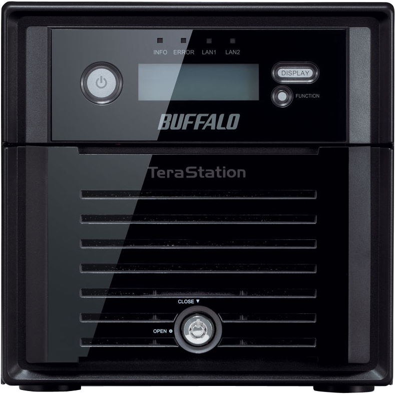 Buffalo TeraStation WS5200DWR2 2 x Total Bays NAS Server - Mini-tower - Intel Atom D2550 Dual-core 2 Core 1.86 GHz - 4 TB HDD 2 x 2 TB - 4 GB RAM DDR3 SDRAM - Se