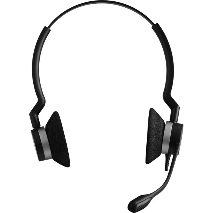 Jabra BIZ 2300 QD Wired Stereo Headset - Over-the-head - Supra-aural - Quick Disconnect
