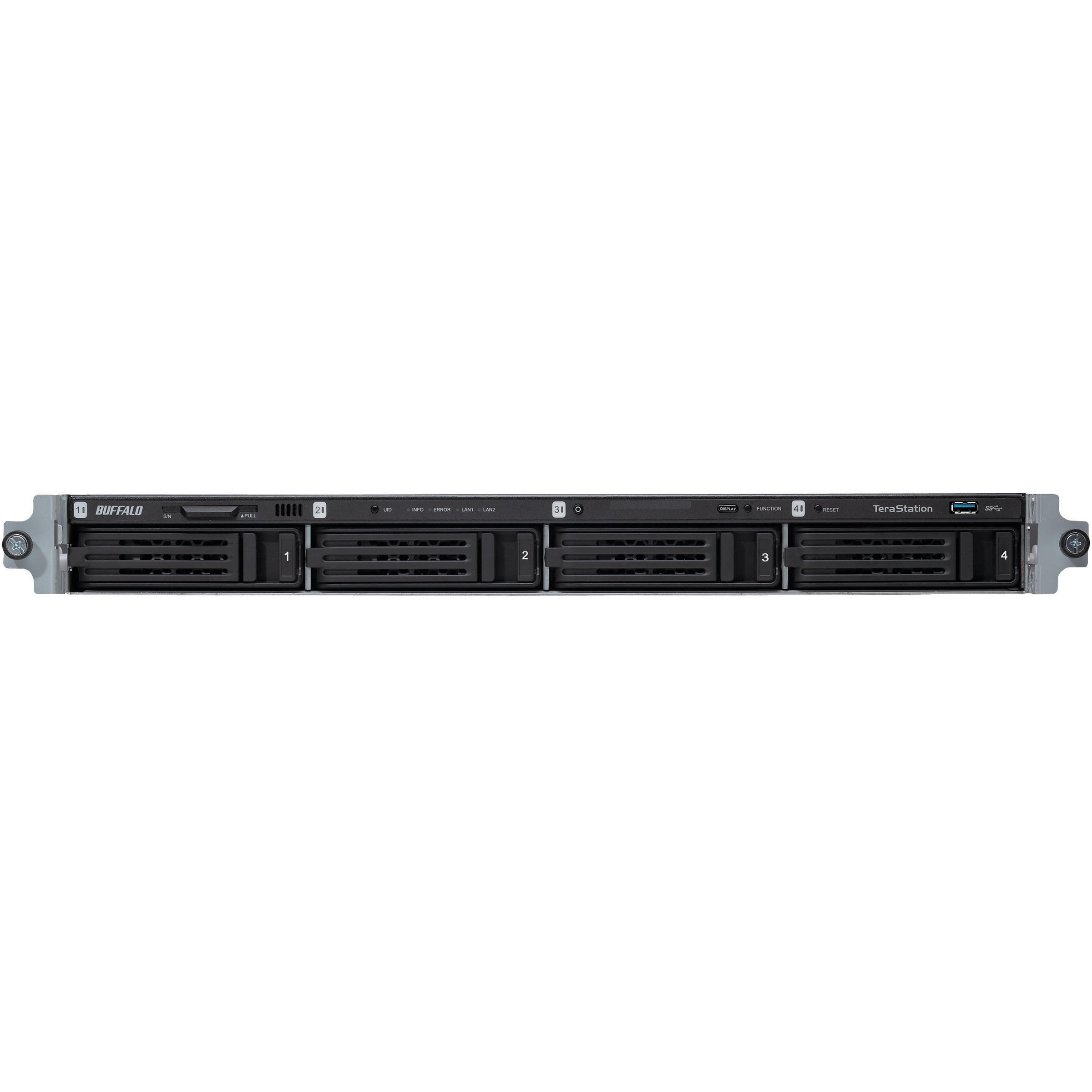 Buffalo TeraStation TS5400RWR0804 4 x Total Bays NAS Server - 1U - Rack-mountable - 1 x Intel Atom D2700 Dual-core 2 Core 2.13 GHz - 8 TB HDD 4 x 2 TB - 2 GB RAM