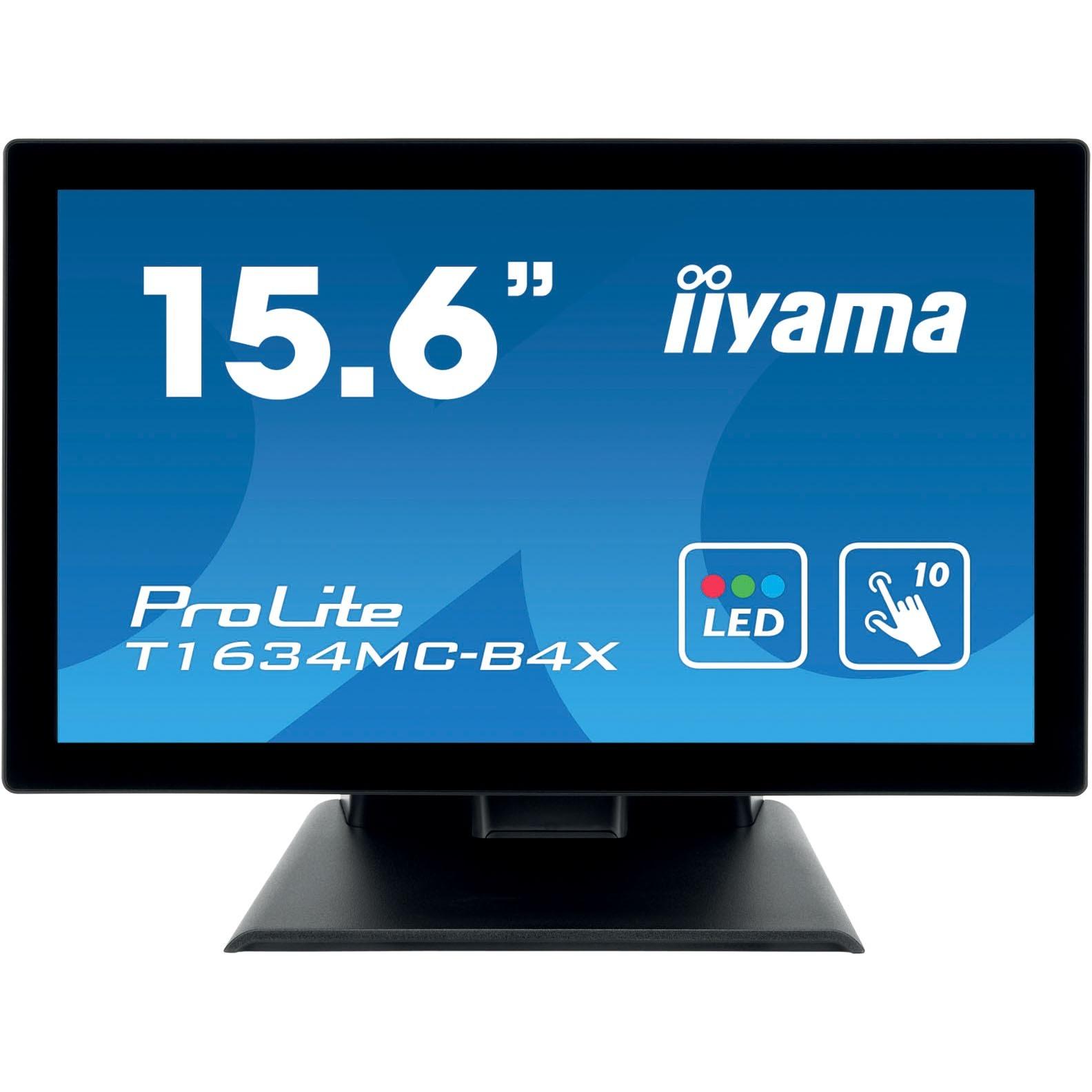 iiyama ProLite T1634MC-B4X 39.6 cm 15.6inch LCD Touchscreen Monitor - 16:9 - 8 ms