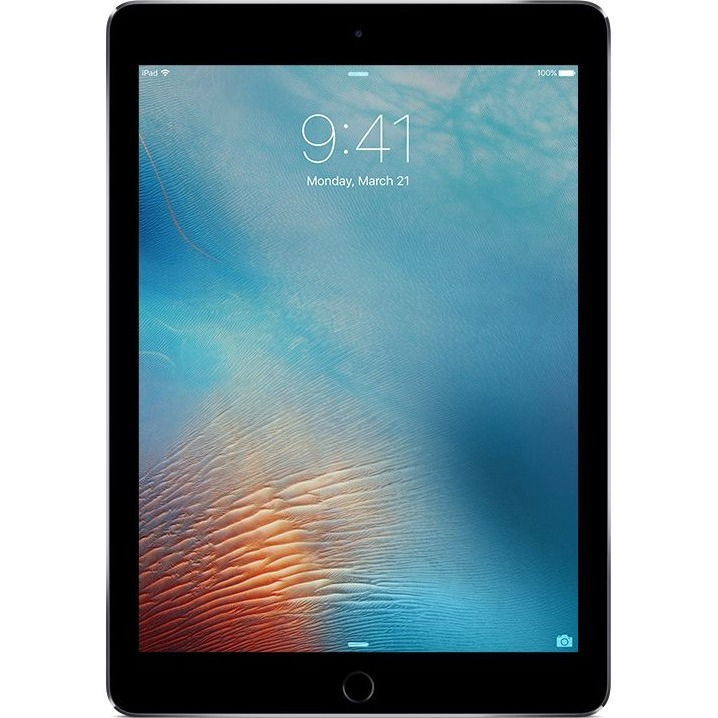 Apple iPad Pro Tablet - 24.6 cm 9.7inch - Apple A9X Dual-core 2 Core - 128 GB - iOS 9 - 2048 x 1536 - Retina Display - 4G - GSM, CDMA2000 Supported - Space Gray - 4