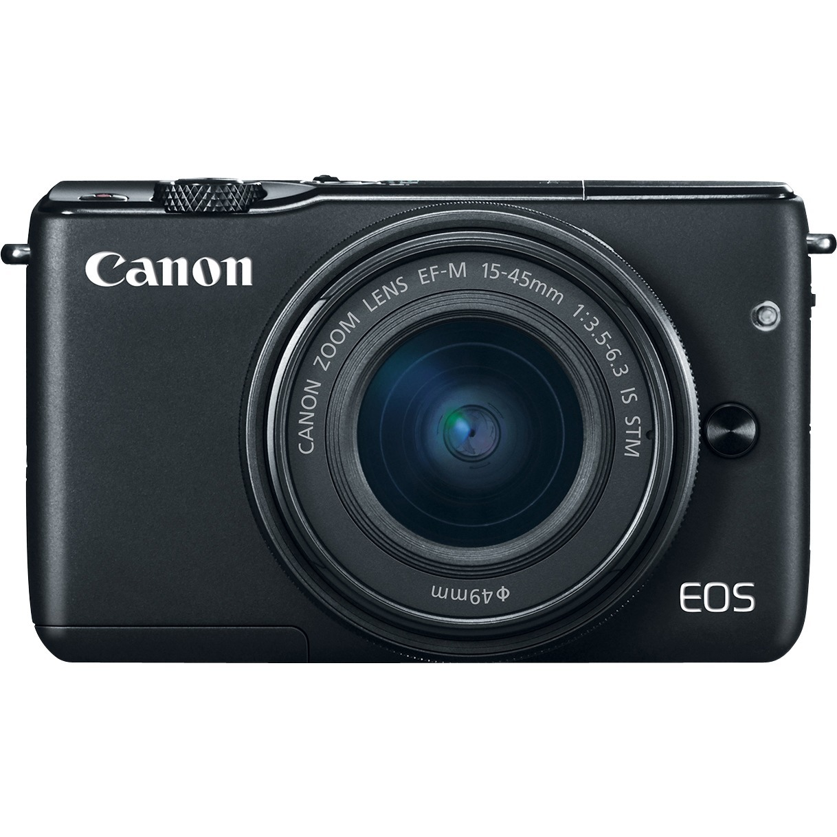 Canon EOS M10 18 Megapixel Mirrorless Camera with Lens - 15 mm - 45 mm - Black