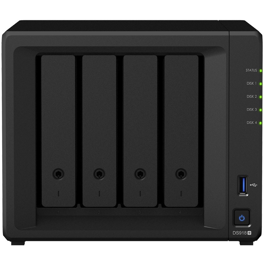 Synology DiskStation DS918plus 4 x Total Bays SAN/NAS Storage System - Desktop