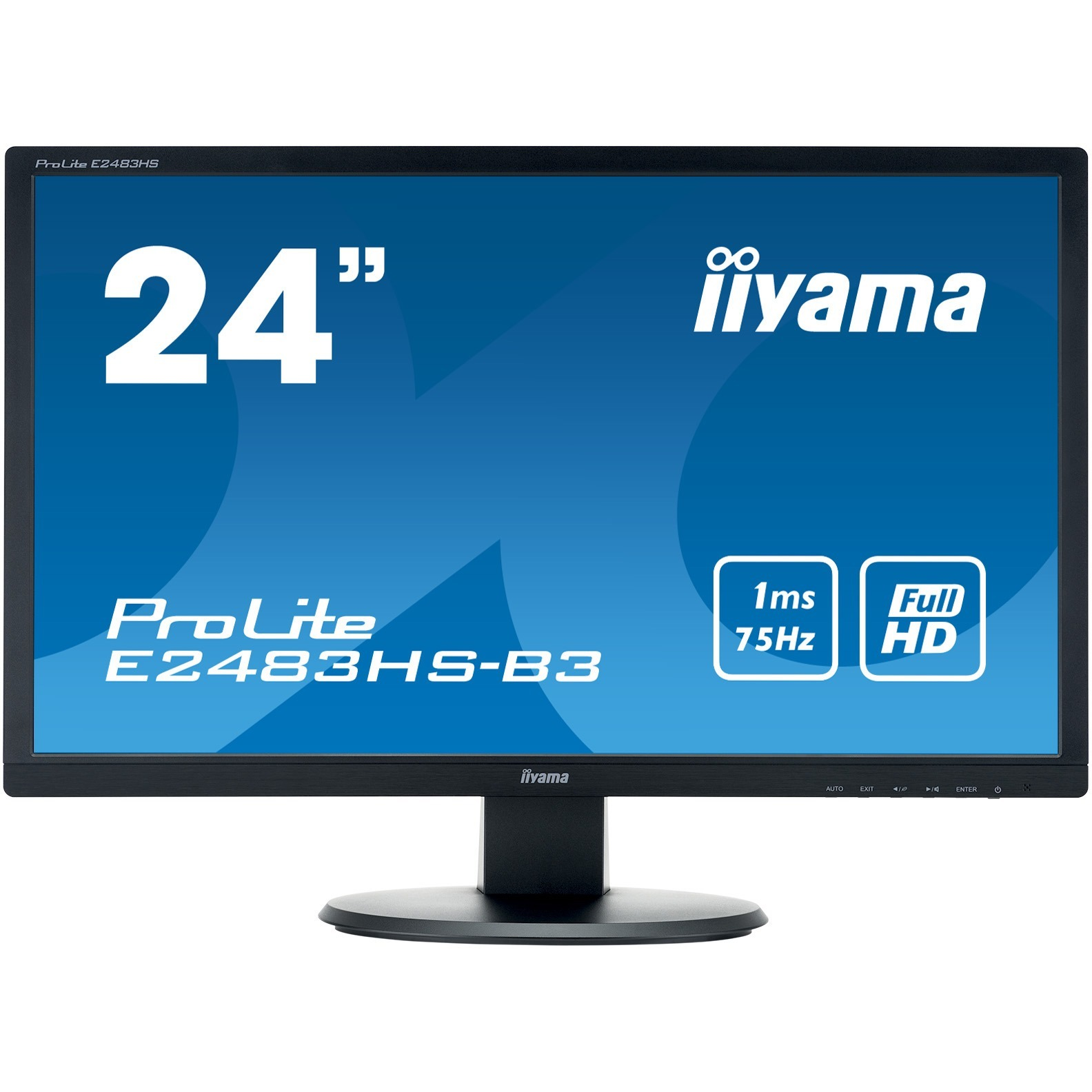 Iiyama ProLite E2483HS-B3  24inch WLED LCD Monitor - 16:9 - 1 ms