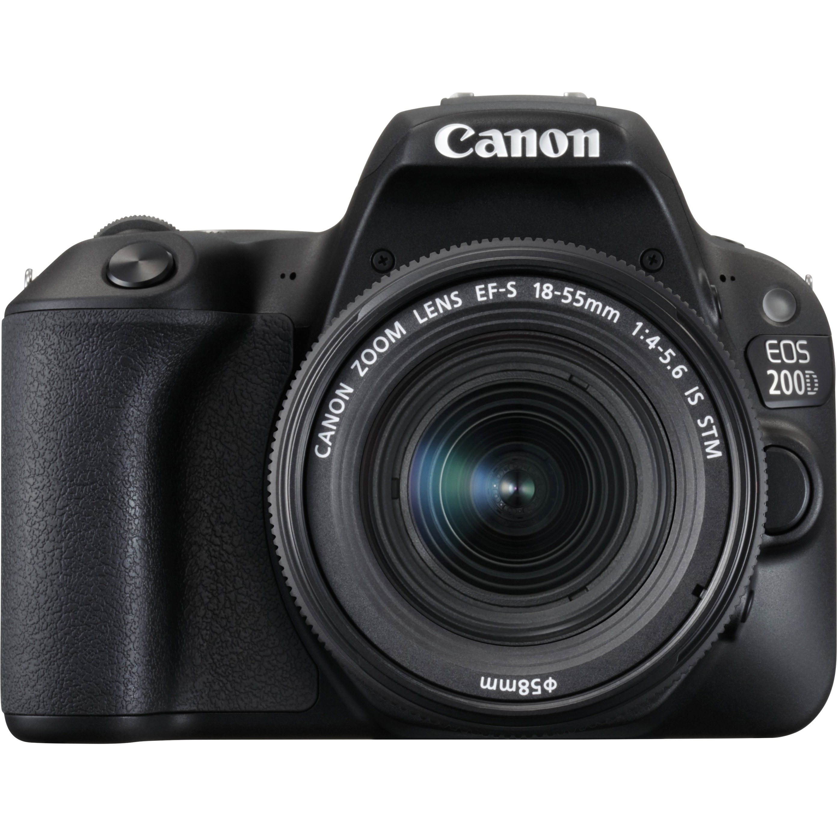 Canon EOS 200D 24.2 Megapixel Digital SLR Camera with Lens - 18 mm - 55 mm - Black - 7.6 cm 3inch Touchscreen LCD - 16:9 - 3.1x Optical Zoom - Optical IS - E-TTL II