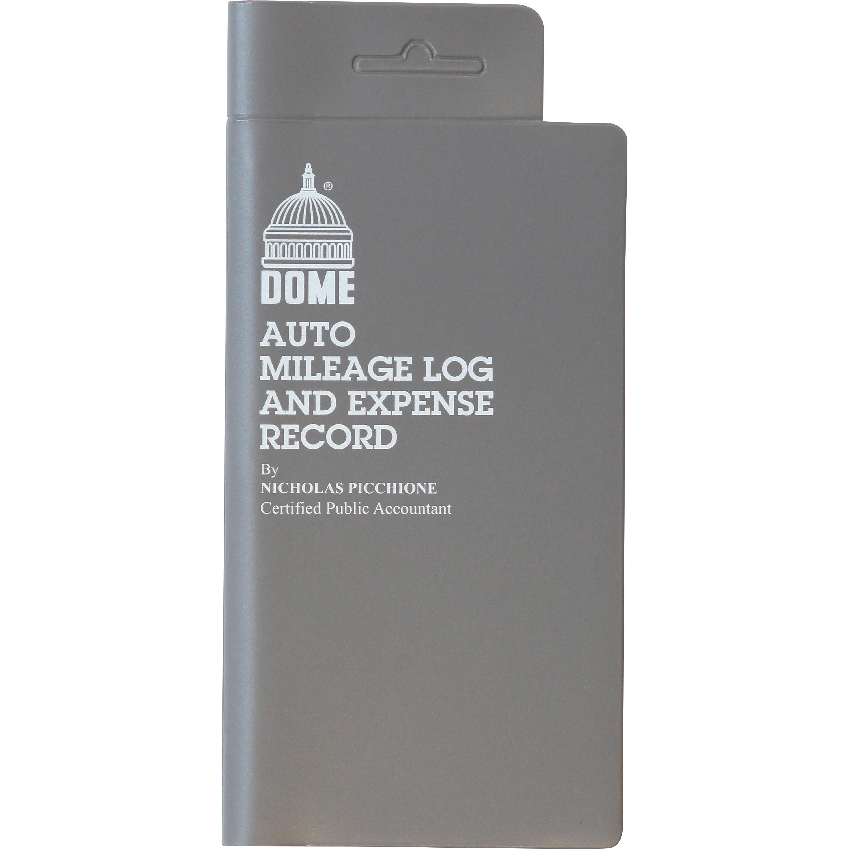 dome auto mileage expense record book dom750