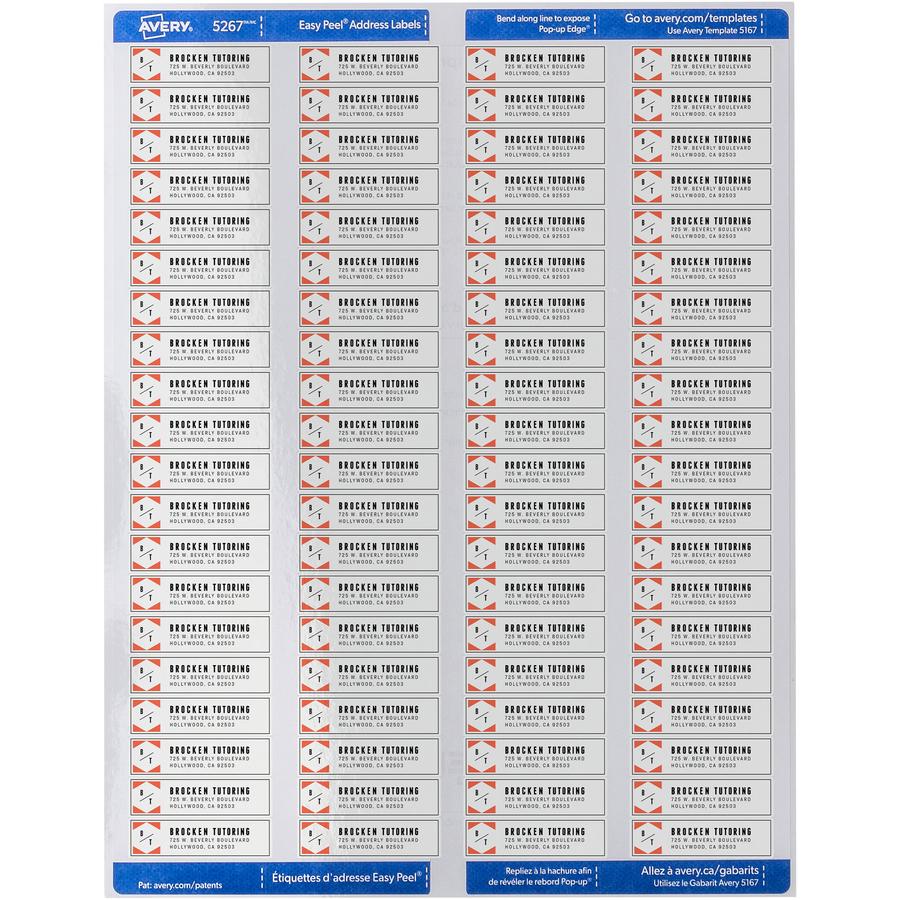 avery 5267 avery easy peel address label ave5267 ave 5267