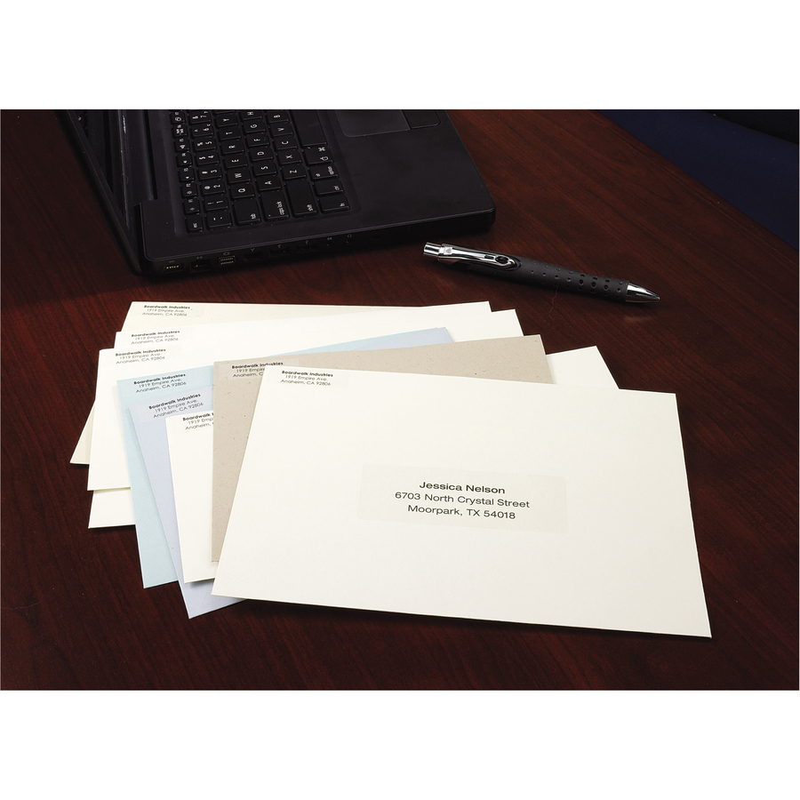 avery matte clear easy peel address labels icc business products