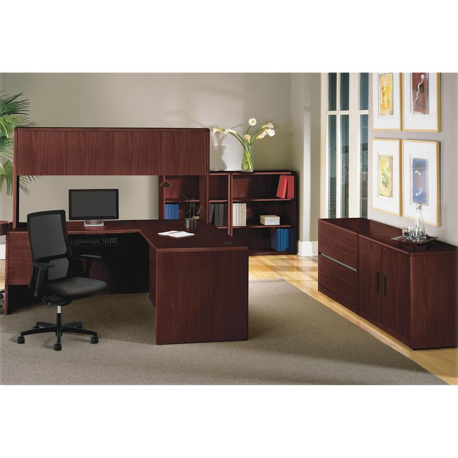 monarch shaped home office desk. Finish Hero-Shot Monarch Shaped Home Office Desk L