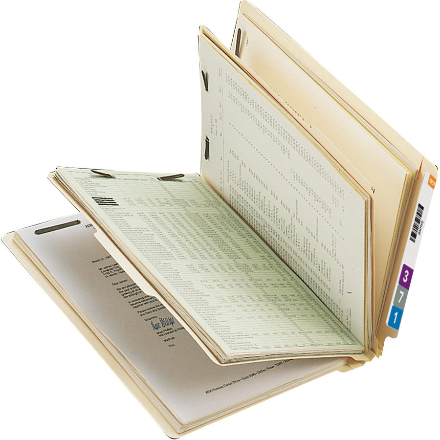 Smead End Tab Classification File Folder, 1 Divider, 2