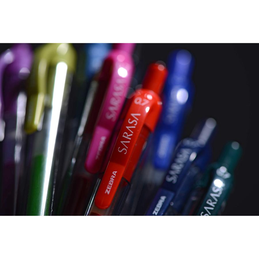Zebra Sarasa Retractable Gel Pen Blue Ink Fine Dozen 46720