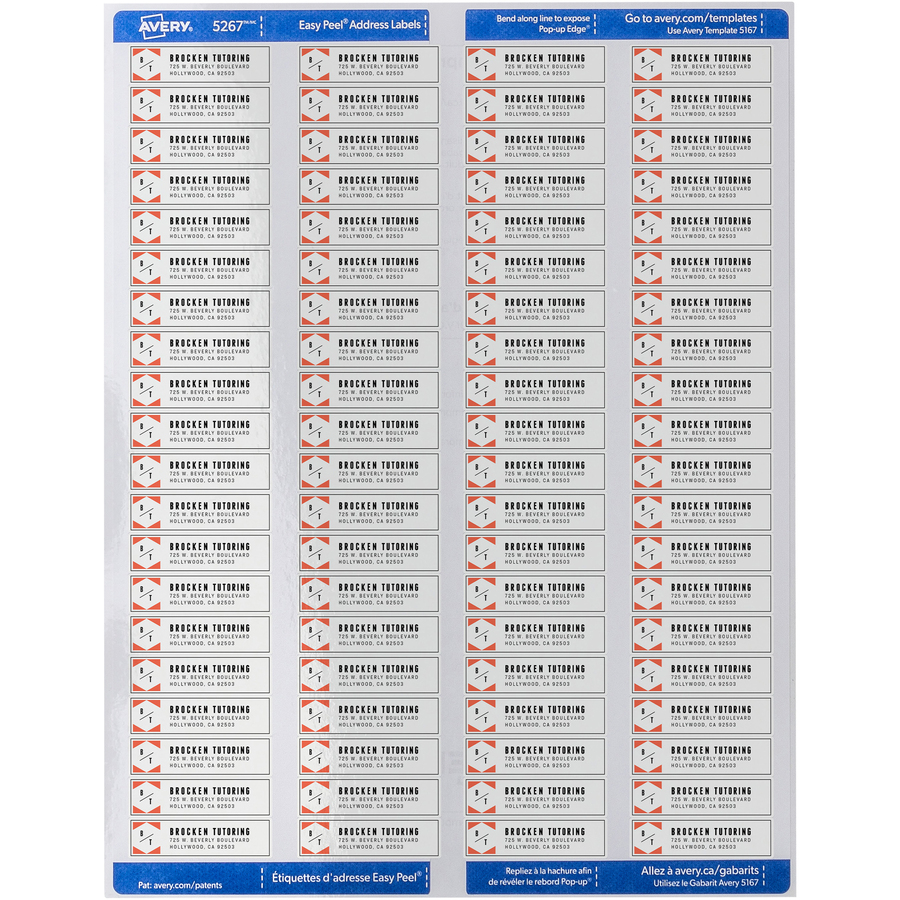 avery return address labels with sure feed technology servmart