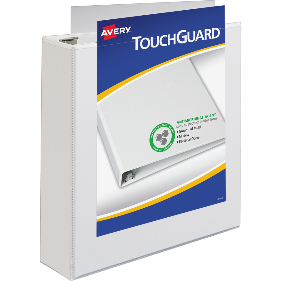 avery touchguard protection slant d ring heavy duty view binder