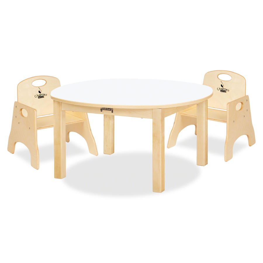 Jonti Craft Kydzsafe Multi Purpose White Round Table Direct Office